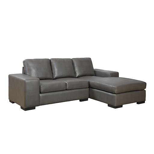 Https Www Staples 3p S7 Is Images For Monarch Specialties Bond Leather Sofa Lounger Charcoal Grey
