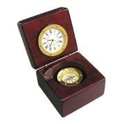 "Elegance 3.5"" Navigator Clock & Compass"