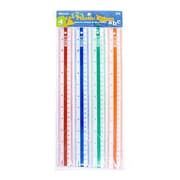 Bazic 12''  Plastic Ruler (Set of 4); Case of 24
