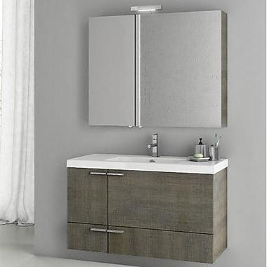 ACF New Space 39.2'' Single Bathroom Vanity Set w/ Mirror; Larch Canapa