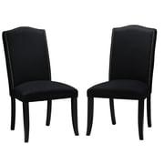 Cortesi Home Duomo Side Chair (Set of 2); Black