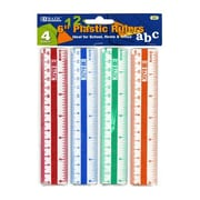 Bazic 6'' Plastic Ruler (Set of 4); Case of 24