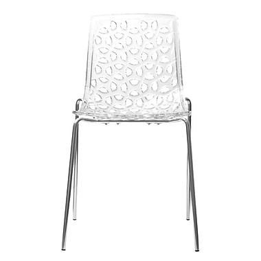 Aeon Furniture Contemporary Dakota Side Chairs (Set of 2); Clear