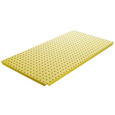 Alligator Board Powder Coated Metal Pegboard Panels w/ Flange in Yellow