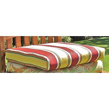Blazing Needles Outdoor Adirondack Chair Cushion; Halliwell Carribean