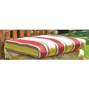 Blazing Needles Outdoor Adirondack Chair Cushion; Haliwell Day Stripe