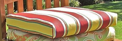 Blazing Needles Outdoor Adirondack Chair Cushion; Haliwell Day Stripe