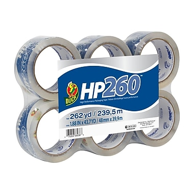 Duck Brand HP 260™ Packaging Tape - Clear, 6 pk, 1.88 in. x 43.7 yd.