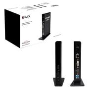 Club 3D USB 3.0 Dual Display Docking Station, Black