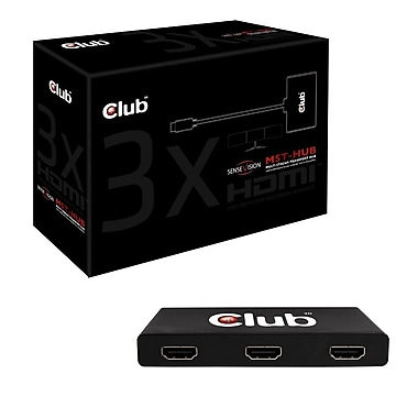 Club 3D MST Hub 1X Display Port to 3X HDMI