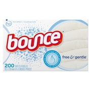 Bounce Fabric Softener Sheet, Free and Gentle, 200 Sheets