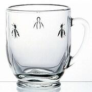 La Rochere – Tasse en verre à motif abeille, 13 oz, paquet de 6