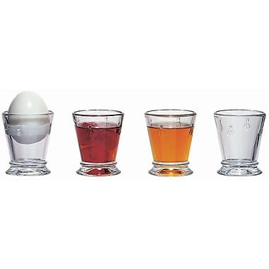La Rochere Bee Glass Egg Cup, 2 Oz, 6/Pack