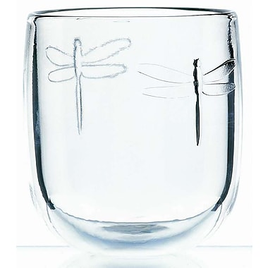 La Rochere Dragonfly Glass Tumbler, 10 Oz, 6/Pack