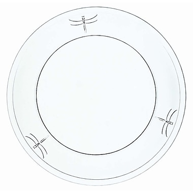 La Rochere Dragonfly Glass Dessert Plate, 6/Pack
