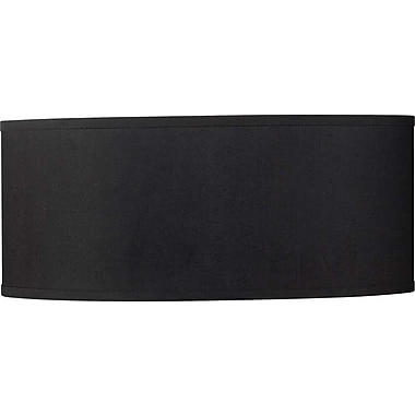Volume Lighting 20'' Drum Pendant Shade; Black