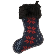 Wooded River Nordic Stocking