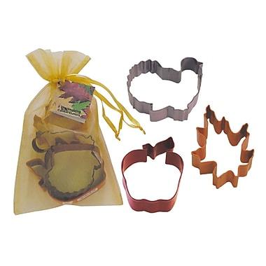R & M International Corp. 3 Piece Thanksgiving Cookie Cutter Set In Bag