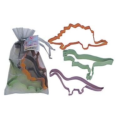 R & M International Corp. 3 Piece Dinosaur Cookie Cutter Set In Bag