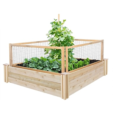 Greenes Fence 4 ft x 4 ft Cedar Raised Garden