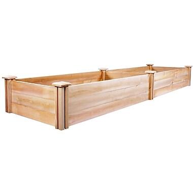 Greenes Fence Cedar Raised Garden; 10.5'' H x 96'' W x 24'' D