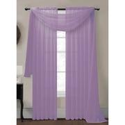 Window Elements Diamond Curtain Sheer Single Panel Scarf; Lilac