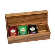 Lipper Acacia Tea Box, 4-Section