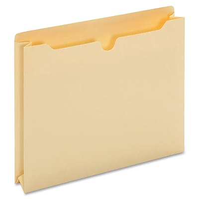 Globe Weis Full,H Gusset File Jackets,Letter,500 Sheet Capacity,2