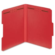 "Globe Weis Color Pressboard Folders with Fastener,Letter,2"" Expansion,2 Fastener(s),Bright Red,Recycled,25 / Box (PFX15936GW)"