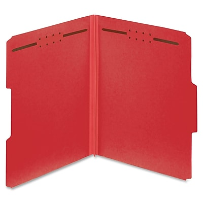 Globe Weis Color Pressboard Folders with Fastener,Letter,2