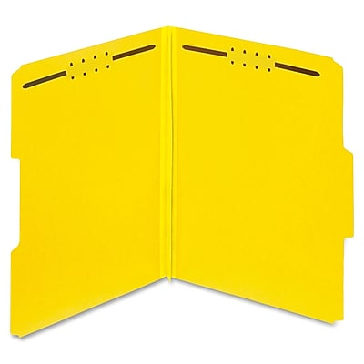 Globe-Weis Color Pressboard Folders with Fastener, Letter, 2