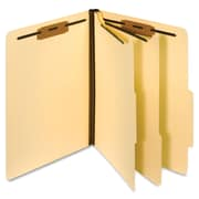 "Globe-Weis Manila Classification Folder, Letter, 2.50"" Expansion, 2 Fastener(s), Manila, Recycled, 10 / Box (PFX24000)"