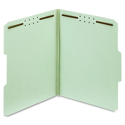 Globe-Weis 100% Recycled Presssboard Folder with Fastener, Letter, 2
