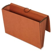 "Globe-Weis Recycled Expanding Wallet - Legal Size, 12000 Sheet Capacity, 5.25"" Exp, Redrope,  Brown - Recycled - 10 / Box"