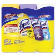 Lysol Disinfecting Wipes 3-pack, Wipe, Canister, 12 / Carton, White (RAC90558CT)