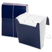 "Smead Organized Up Vertical Expanding Files, Letter, 8.50"" x 11"" Sheet Size, 12 Pockets, Blue, 1 Each (SMD70701)"