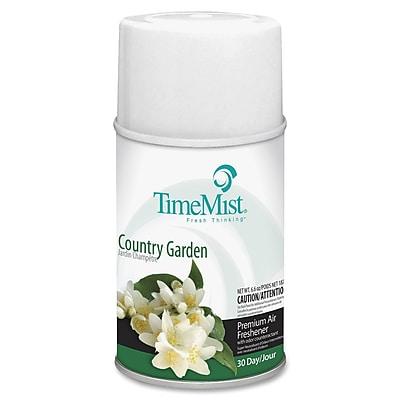 TimeMist® Metered Aerosol Fragrance Dispenser Refills, 6.6 oz, Country Garden, 12/Carton (332522TMCT)