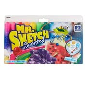 Mr. Sketch® Scented Watercolor Markers, Chisel Tip, 12/pk (20072TL)