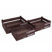 Cheungs 3 Piece Wooden Crate Set