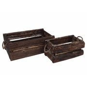 Cheungs 2 Piece Reclaimed Wood Crates Set