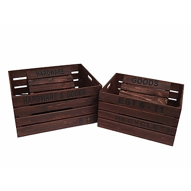 Cheungs 4 Piece Wooden Crate Set