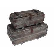 Cheungs 2 Piece Wood Storage Trunks Set