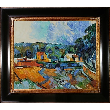 Tori Home Uferlandschaft by Paul Cezanne Framed Painting