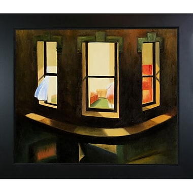 Tori Home Night Windows by Edward Hopper Framed Painting Print