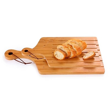 Culinary Edge 2 Piece Bamboo Serving Board Set