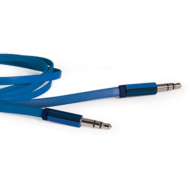 Delton 3.5mm Stereo AUX Cable Blue - 5FT