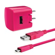 Delton 2PC Micro USB Wall Charger Pink