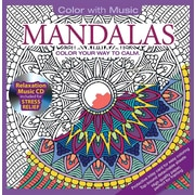 Color with Music Adult Colouring Book, Mandalas, Music from Mystic Sea, 48 Pictures
