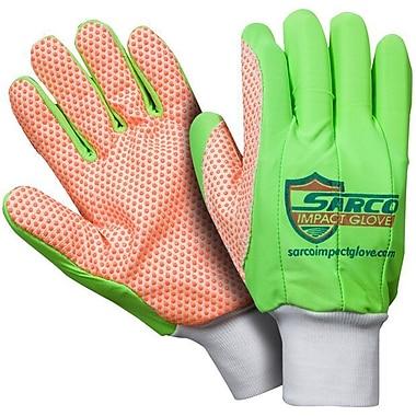 Northern Gloves – Gant de protection contre les impacts Sarco, vert avec paume à points orange