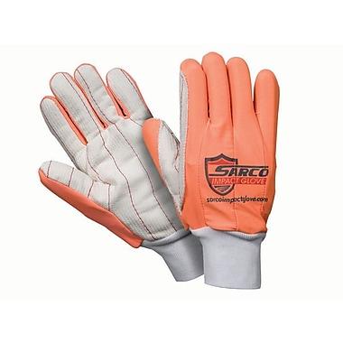 Northern Gloves – Gant de protection contre les impacts Sarco, rouge avec paume côtelée